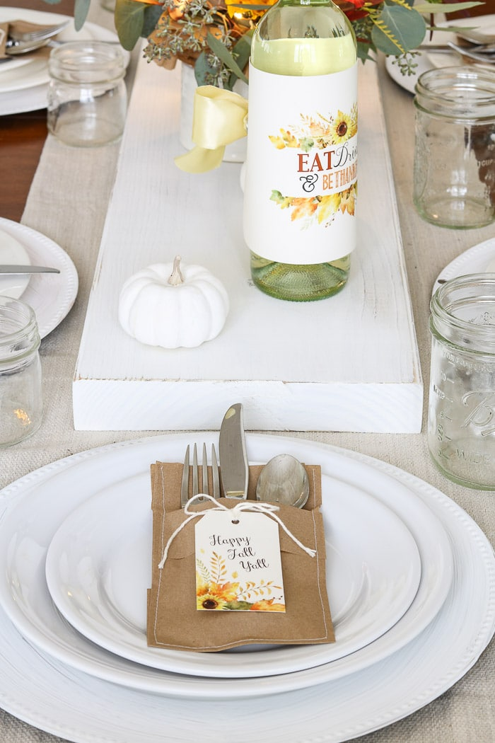 Thanksgiving table decorations DIY