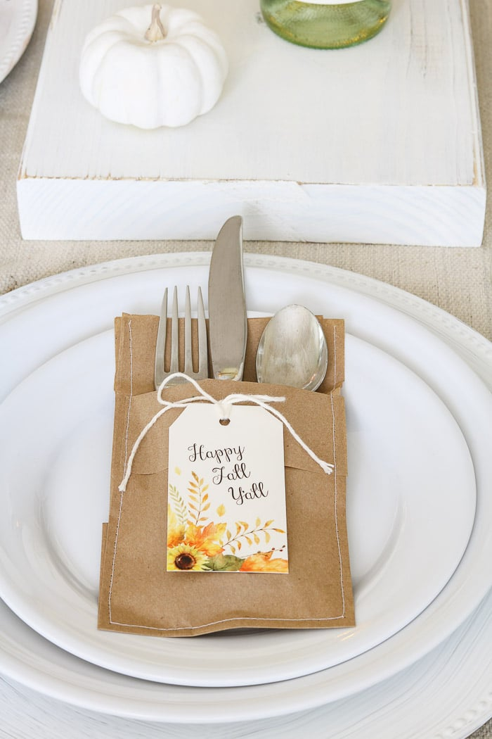 Thanksgiving table decorations DIY place setting decoration