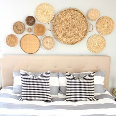 HOW TO HANG BASKETS ON WALLS TO MAKE A STATEMENT PIECE