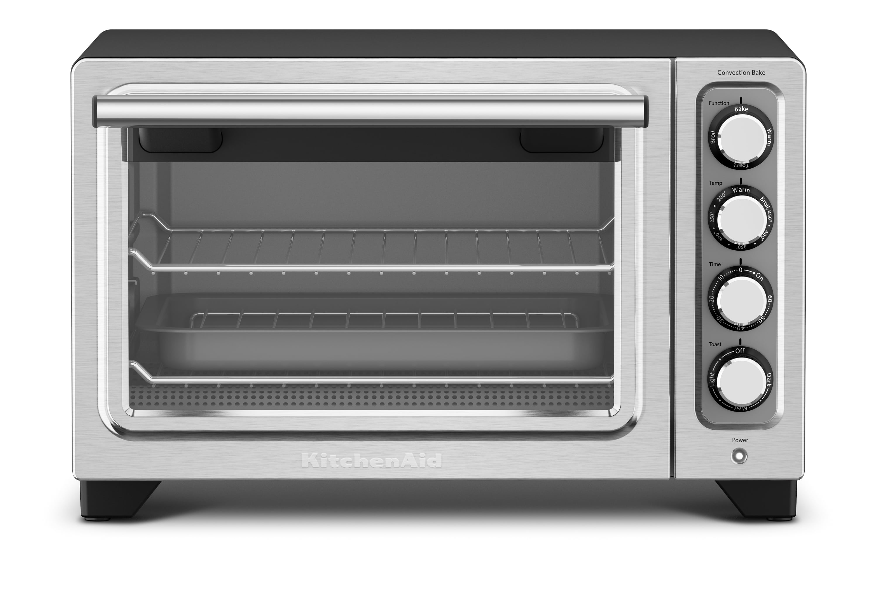 Kitchenaid toaster oven with convection. Silver finish