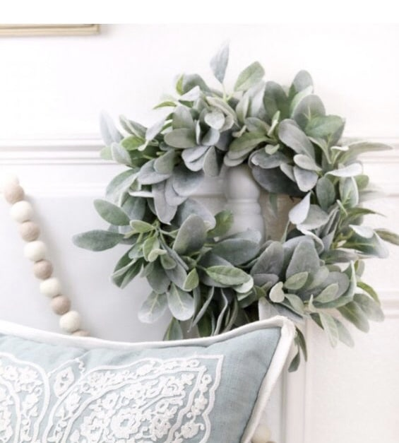 Lambs ear wreath perfect just like it is or dress it up for the holidays like Christmas, Easter, Thanksgiving, Fall