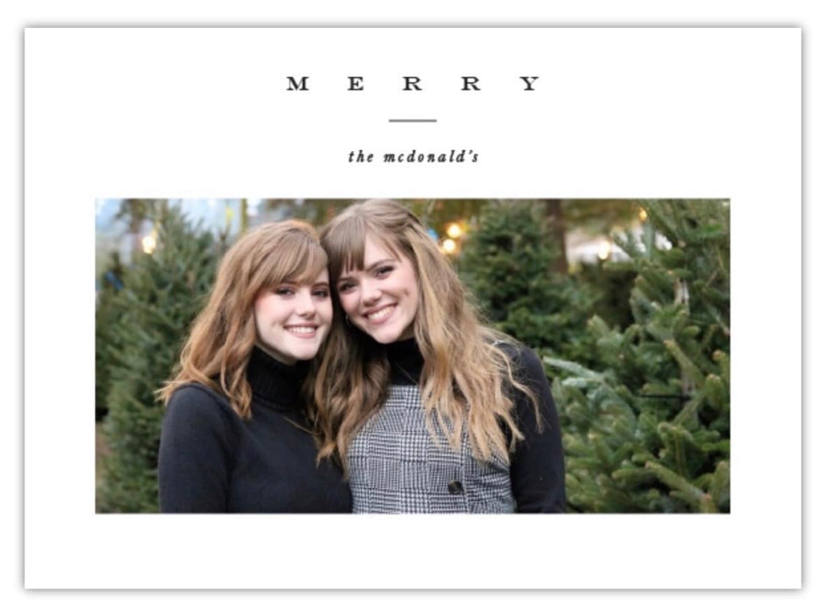 Christmas card by minted