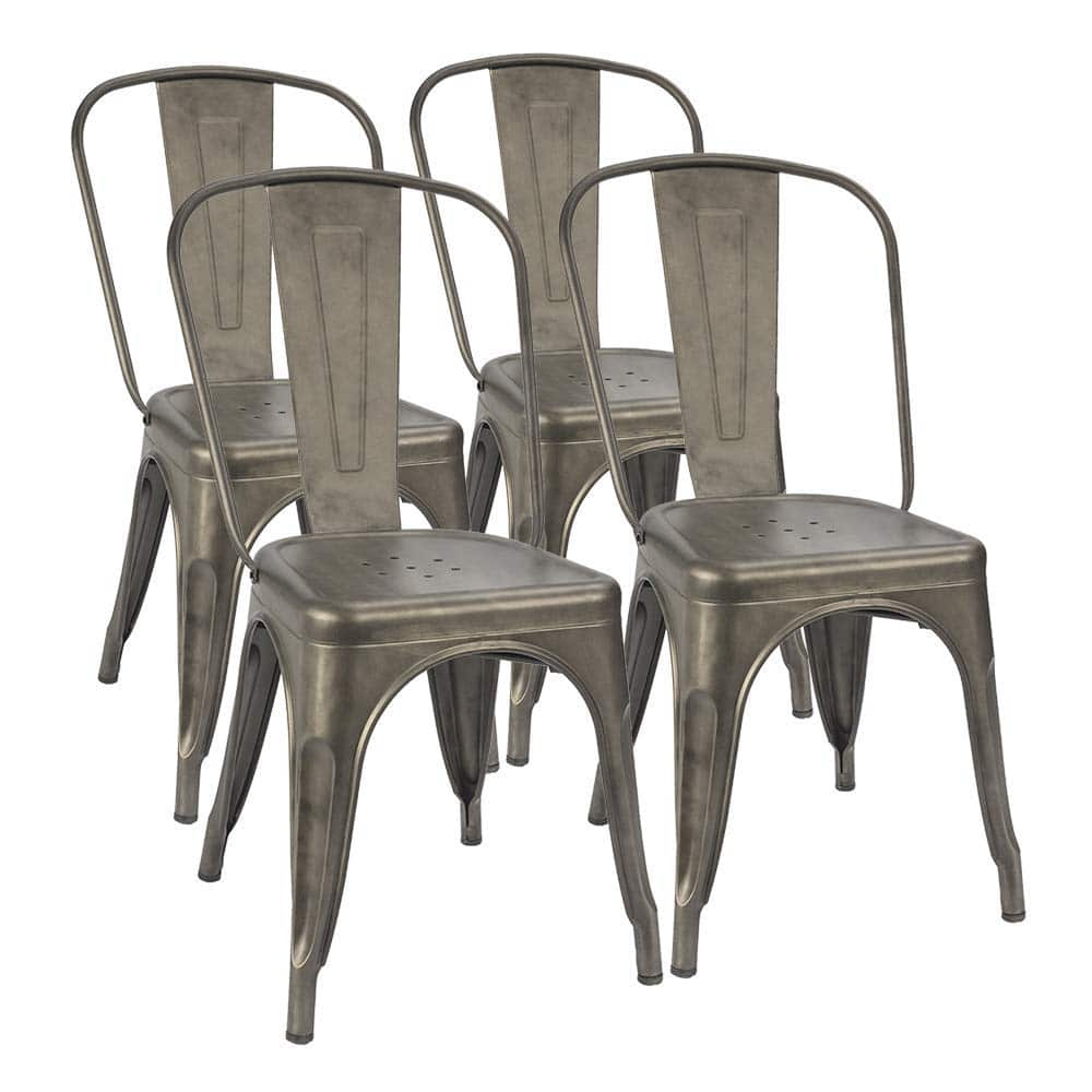 Farmhouse vintage retro style metal dining chairs