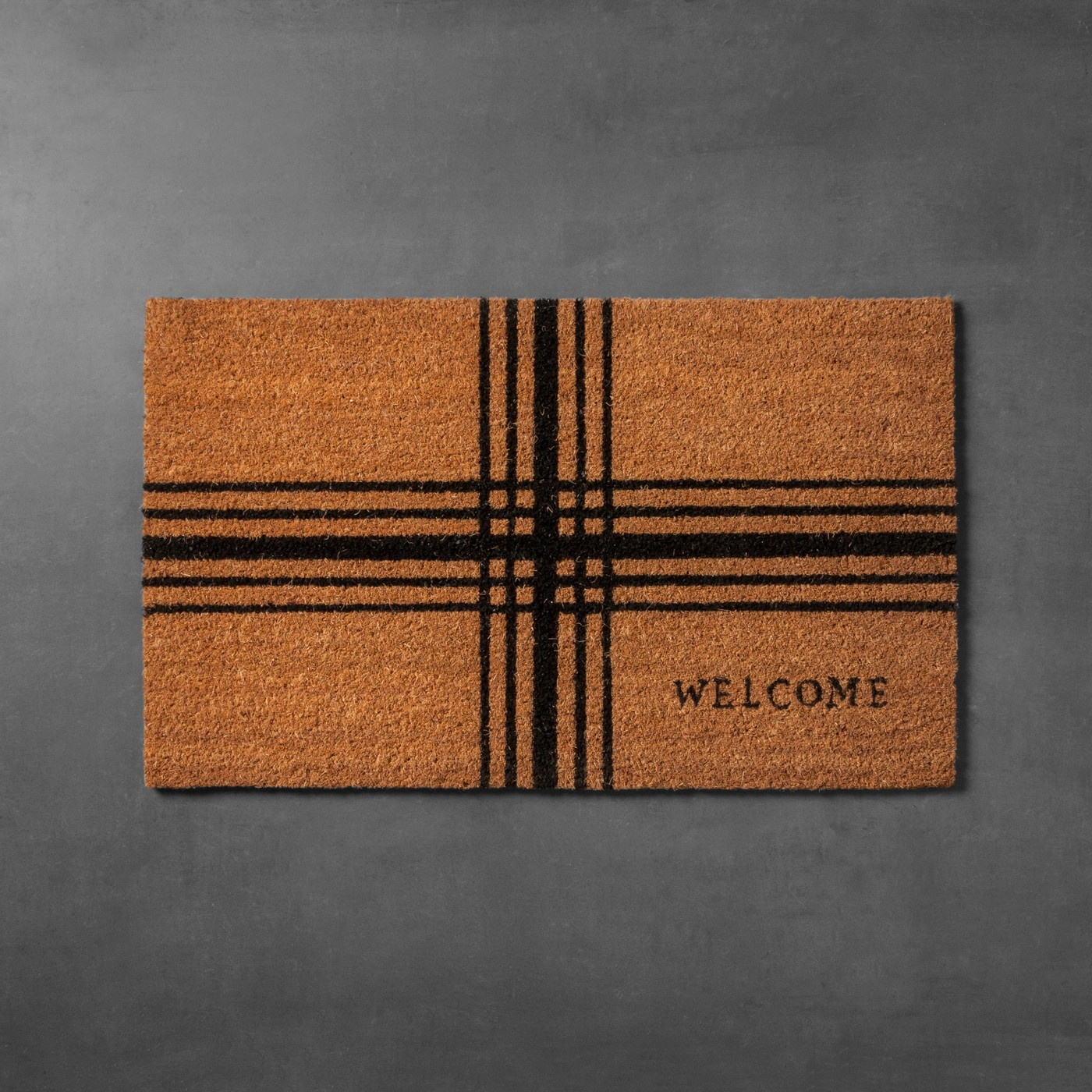 Hearth and Hand by Magnolia Target plaid door mat