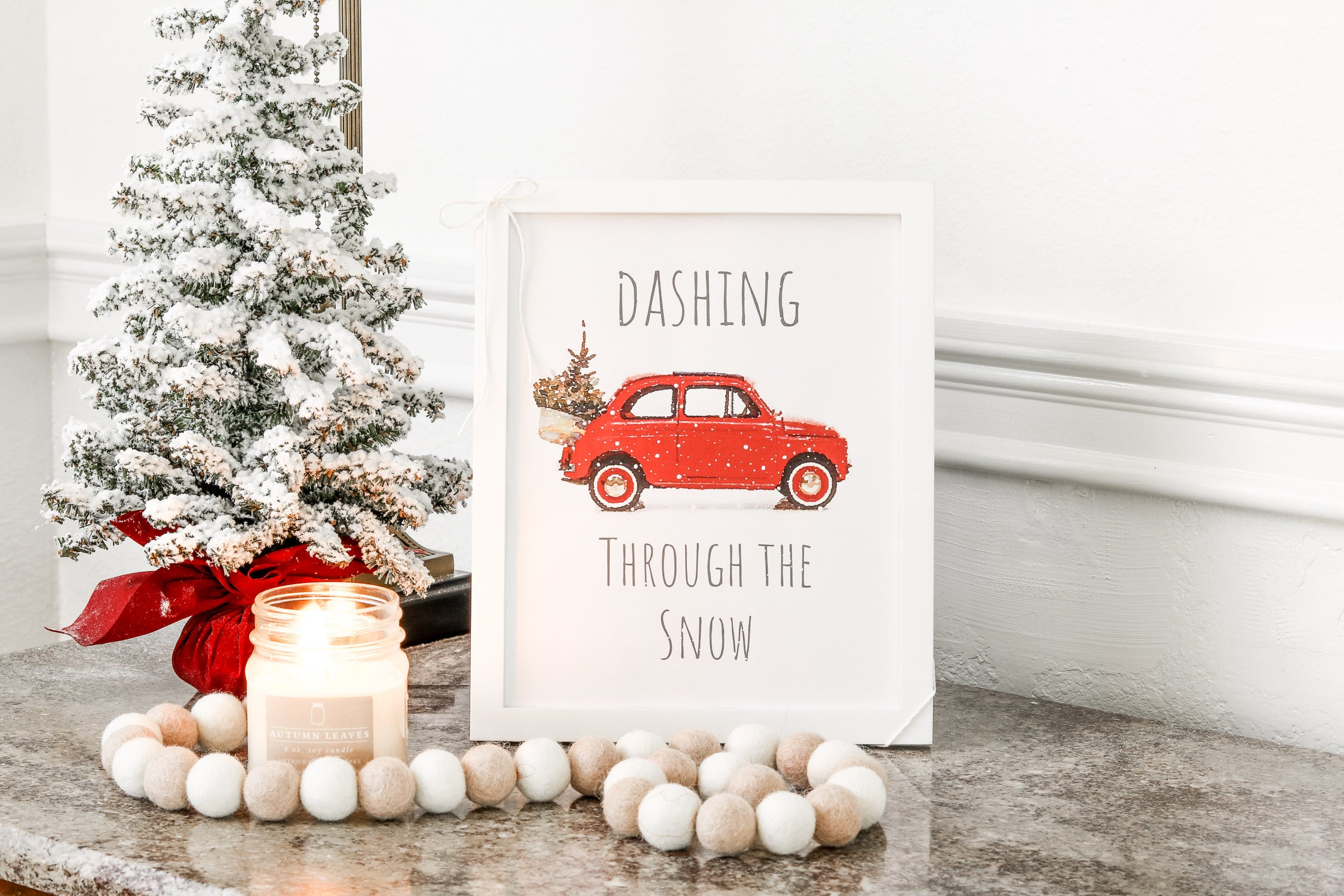 picture regarding Christmas Decor Printable identified as Hurrying For the duration of THE SNOW Xmas PRINTABLE DECOR