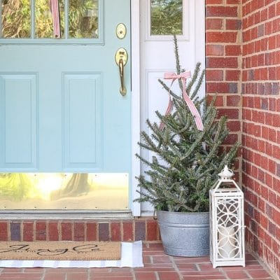 CHRISTMAS DECORATING IDEAS FOR PORCHES AND A HOME TOUR FILLED WITH JOY