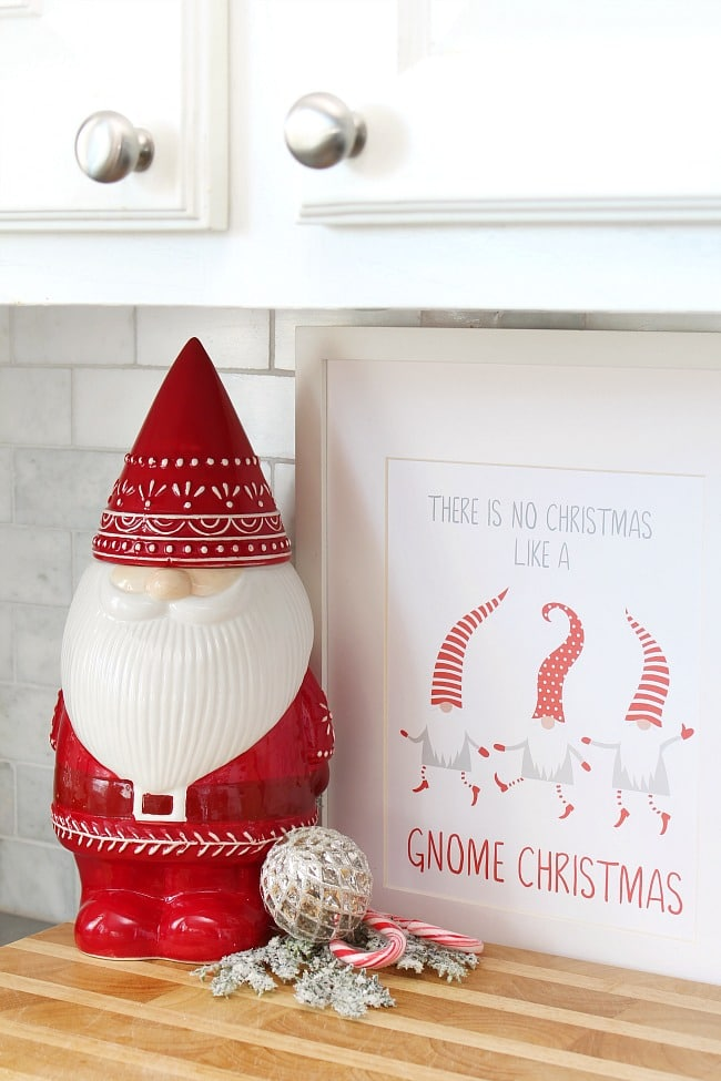 Christmas Printable Decor by Clean and Scentsible with there is no Christmas like gnome Christmas