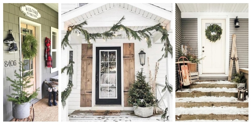 Christmas decorating ideas for front porches round up