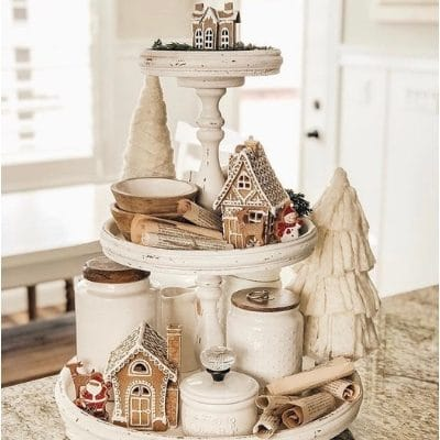 10 CHRISTMAS FARMHOUSE TIERED TRAYS THAT WILL WARM YOUR HEART
