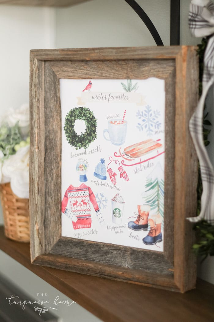 Christmas Printable Decor by The Turquoise Home with Christmas Favorite Things