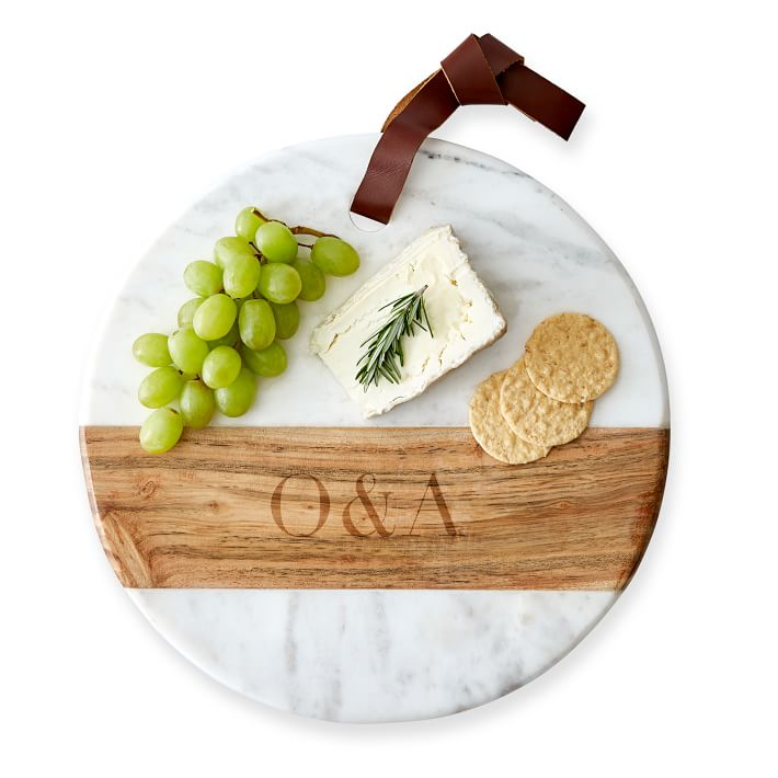 Marble and Wood personalized cutting board