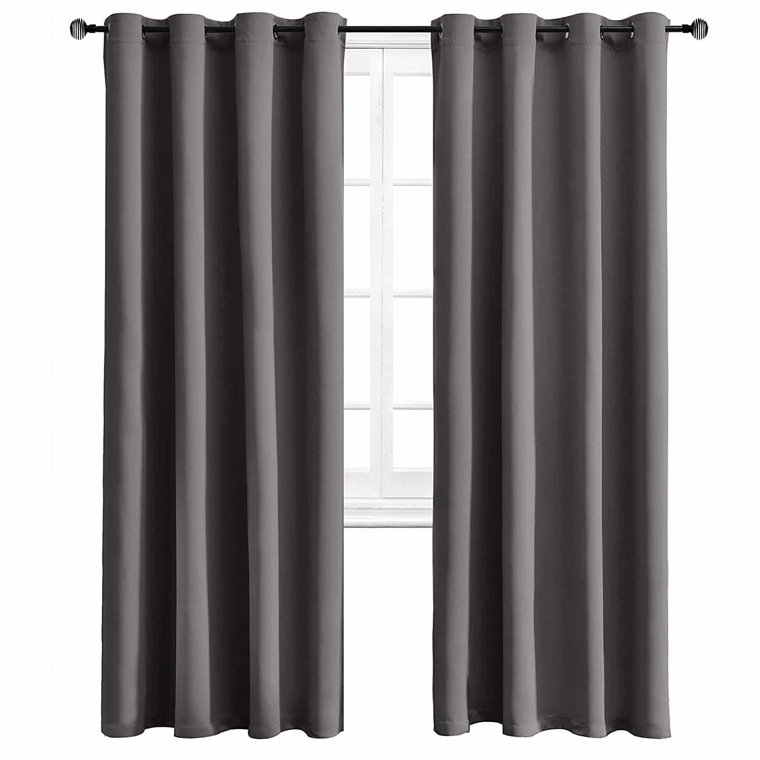 Curtains that keep the cold out by Wontex grey with grommets