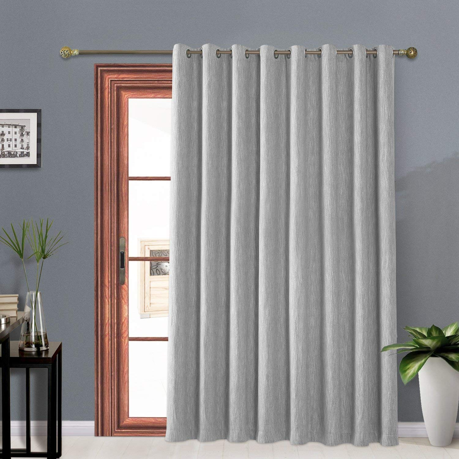 Curtains that keep the cold out Melodieux Elegant Curtains grey polyester cotton blend