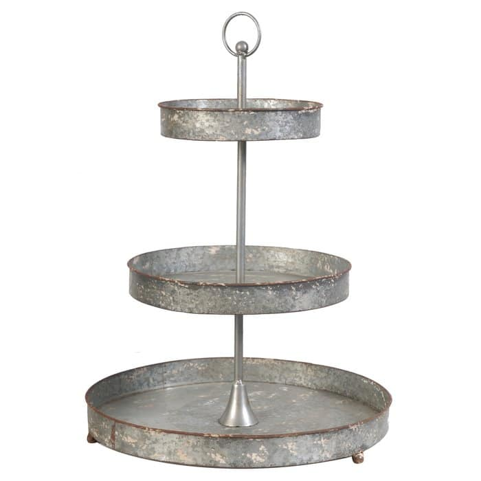Farmhouse Tiered Trays by Wayfair three tiered galvanized tray