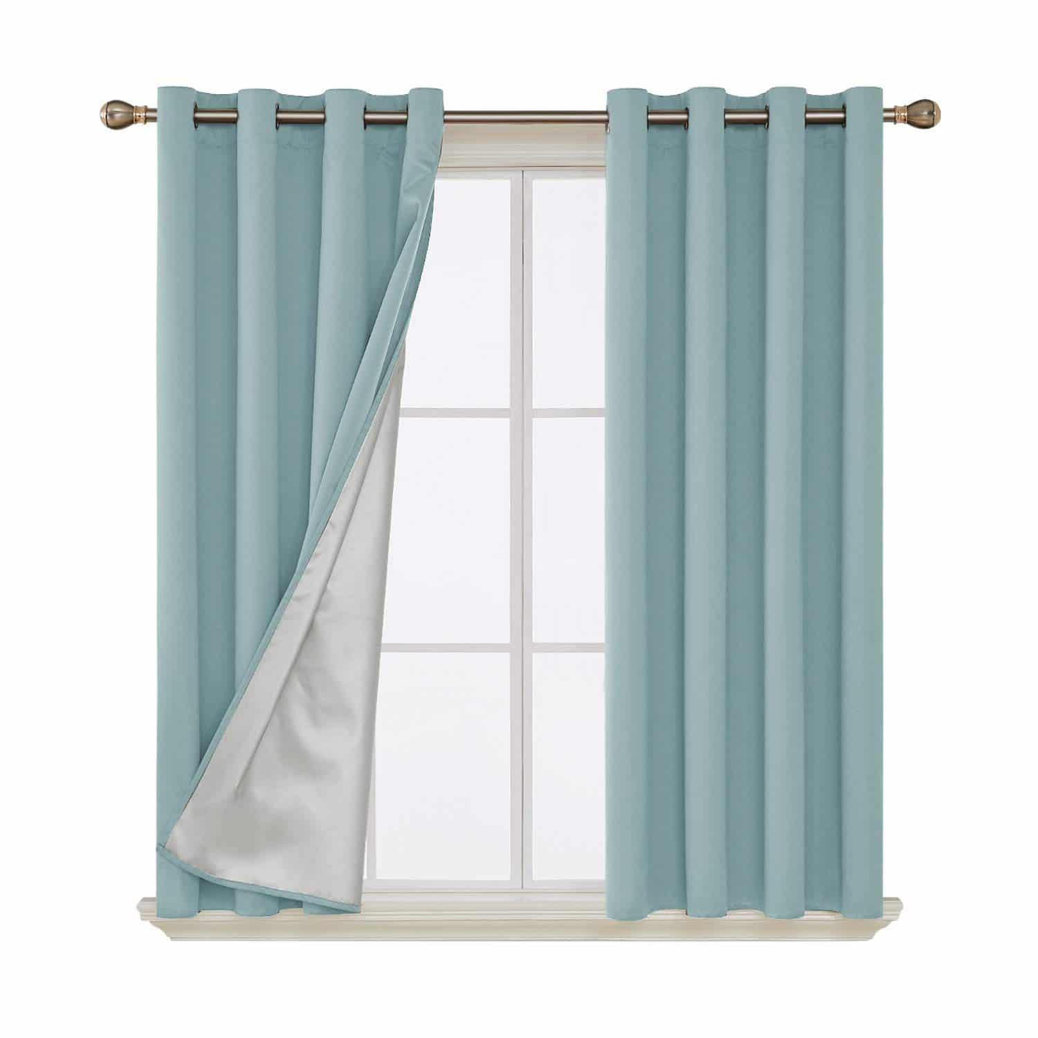 Curtains that keep the cold out by Deconovo sky blue