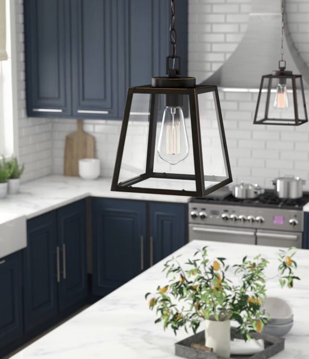 Industrial Pendant Lighting 1 Light Lantern Pendant