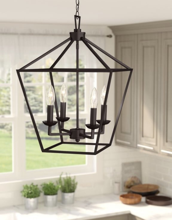 Industrial Pendant Lighting 4 Light Lantern Pendant