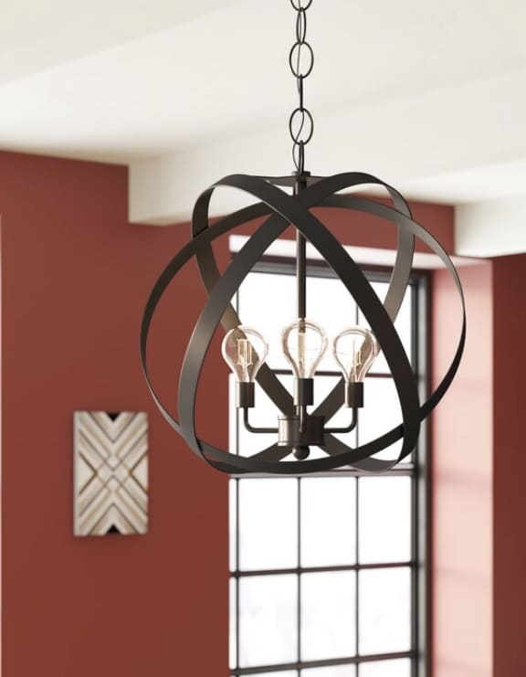 Industrial Pendant Lighting 3 Light Globe Chandelier