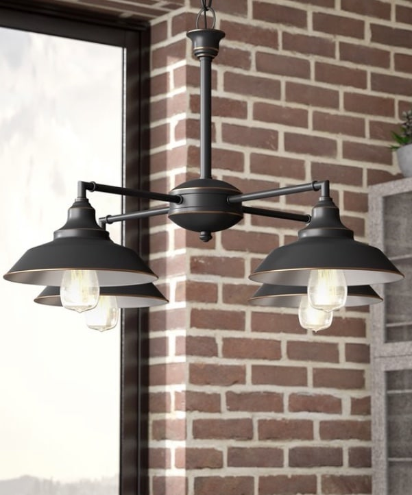 Industrial Pendant Lighting 4 Light Chandelier