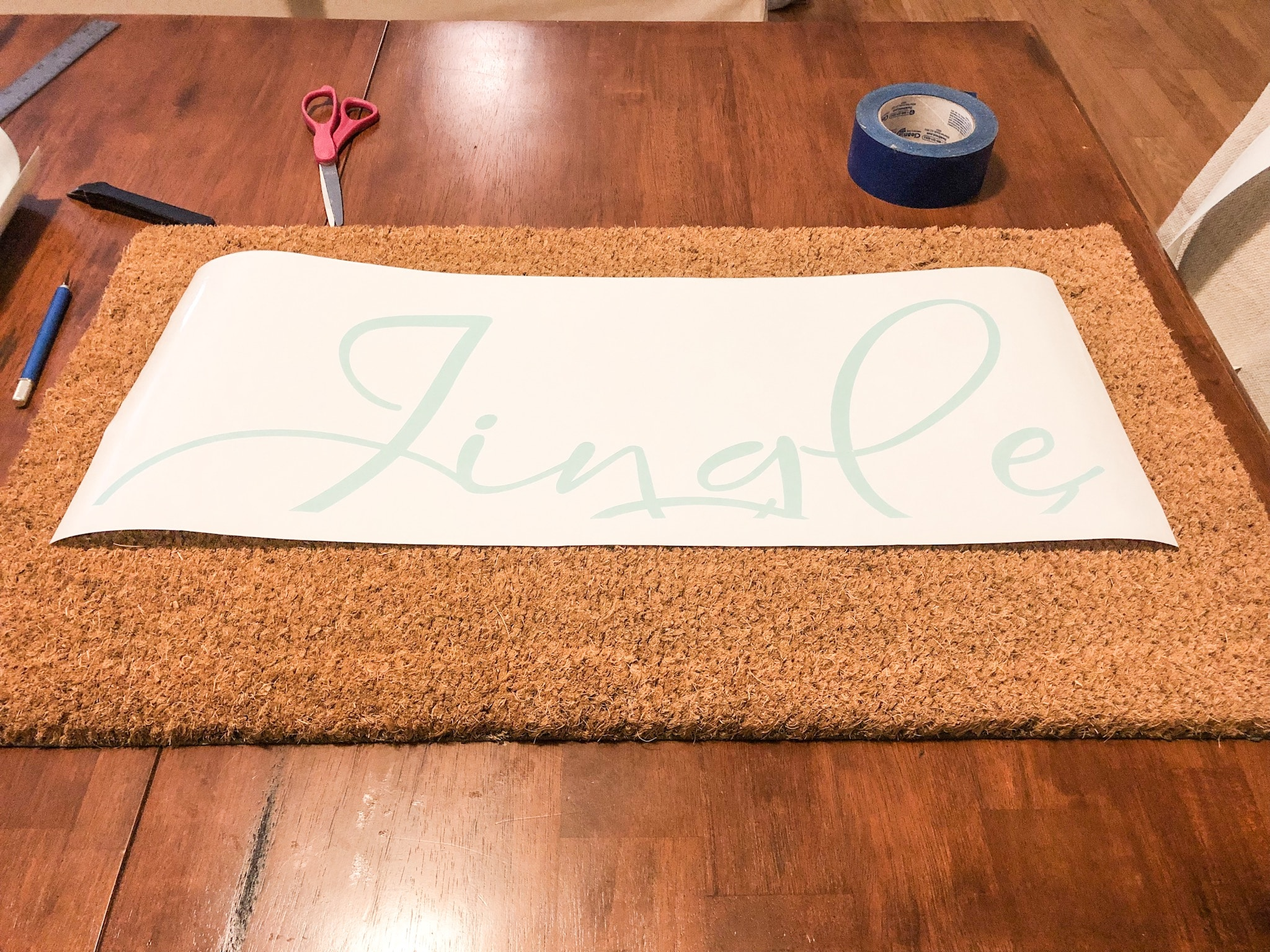 design your own doormat vinyl design