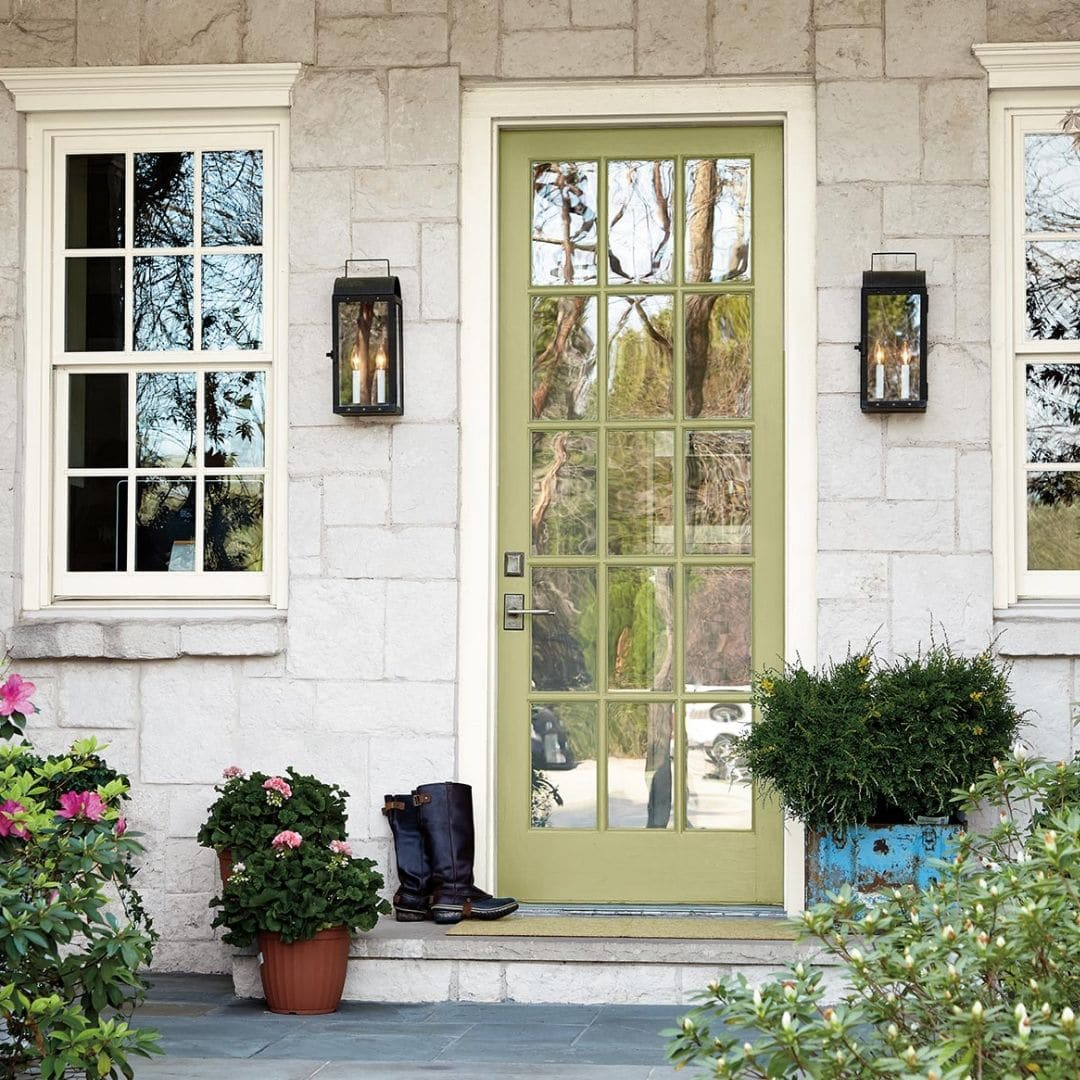 Behr has released their color of the year for 2020 to be Back to Nature S340-4 painted on a front door