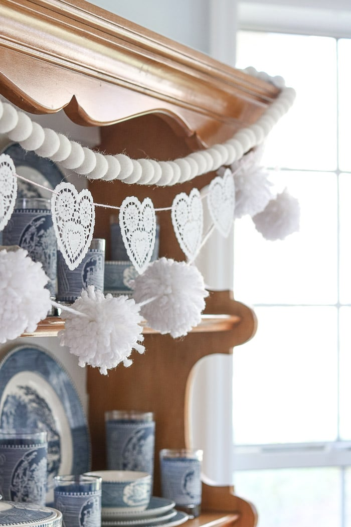 Valentine day decorations for home heart garland