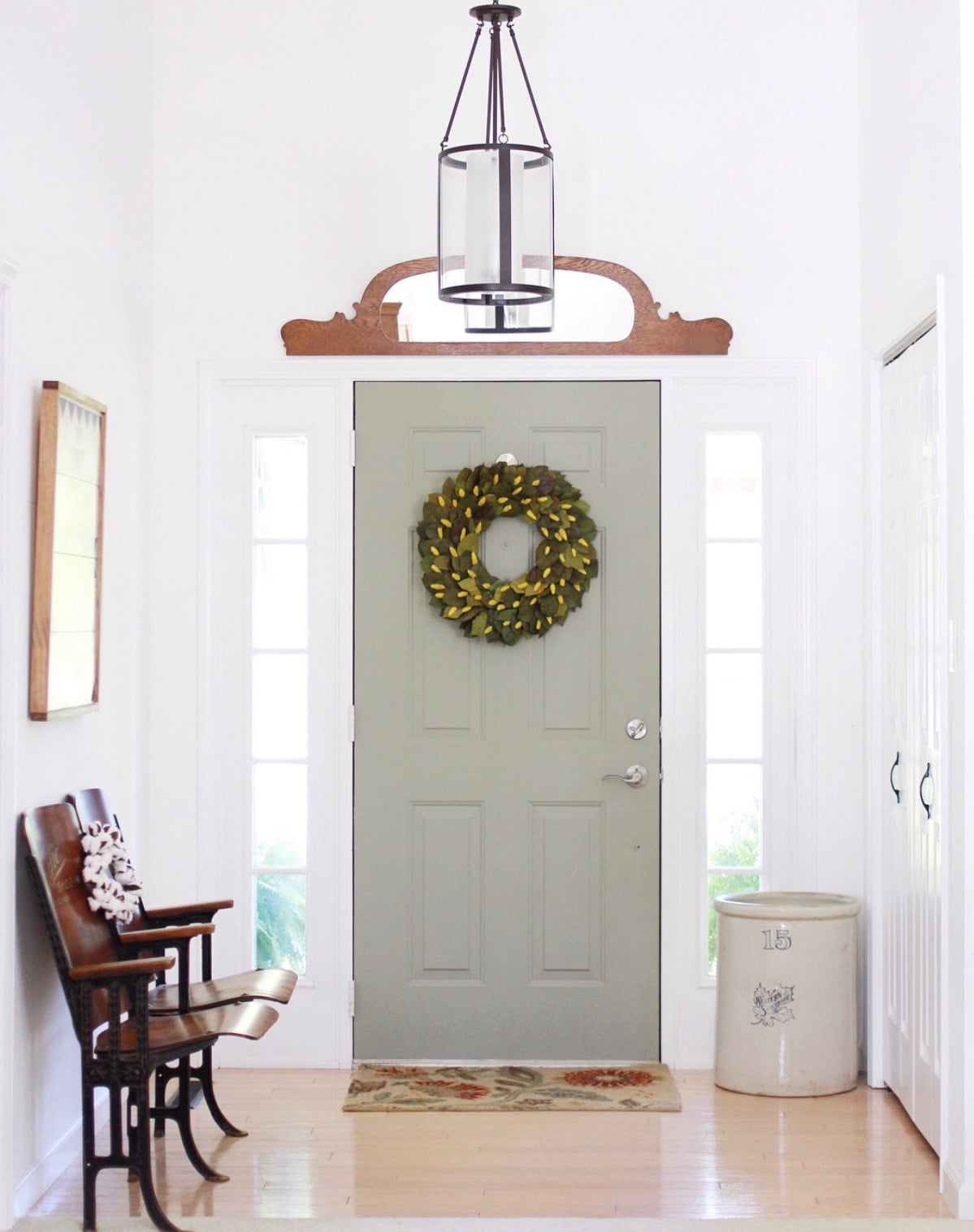 Fusion mineral paint colors used on an exterior door in color Lichen