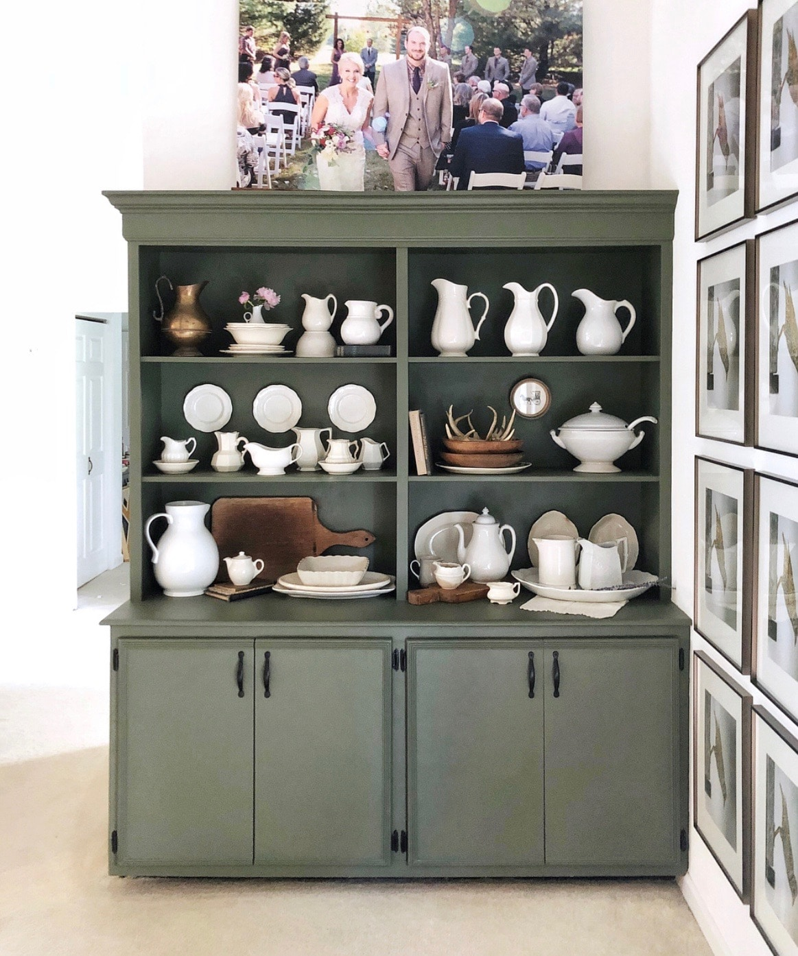 Fusion mineral paint colors used on a built in cabinet in color Bayberry