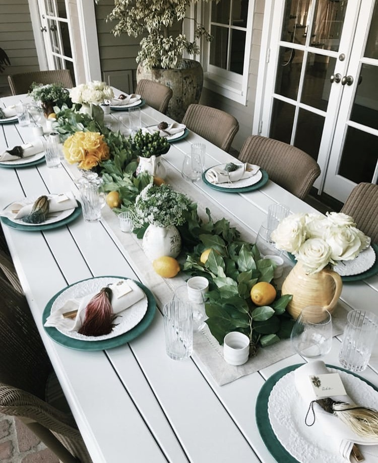 Italian Themed Dinner Party by Pave The Runway with lemon centerpiece and flowers