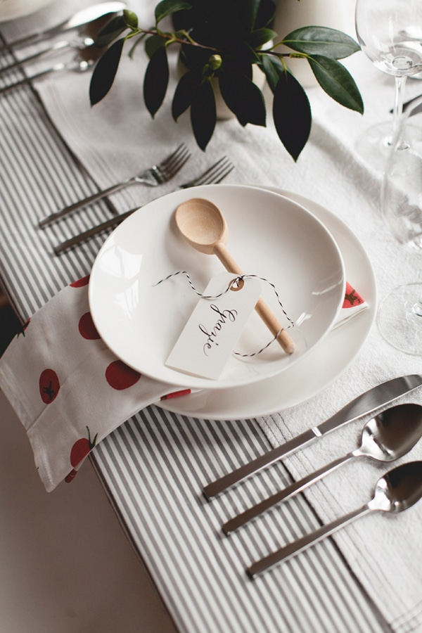 Italian Themed Dinner Party by Coco Kelley with an Italian place setting