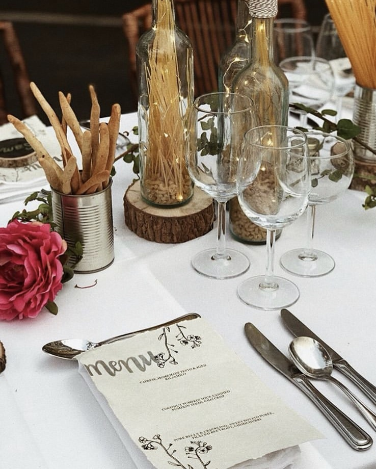 Italian Themed Dinner Party by Calligraphy by Brooke with a drawn out menu