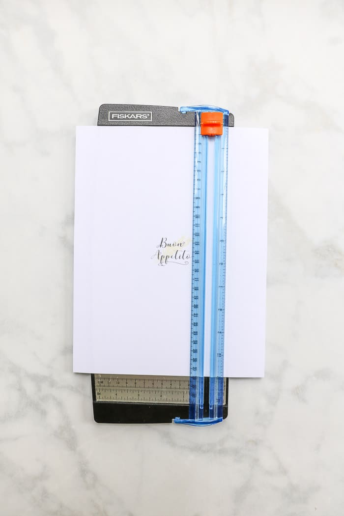 Italian dinner table setting paper cutter and free printable