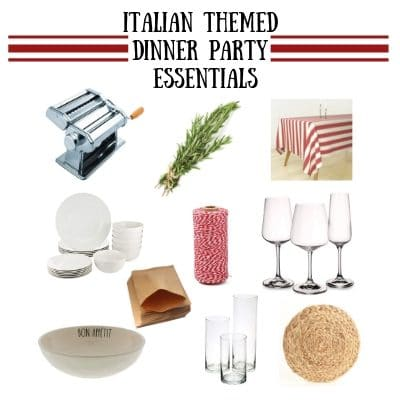Italian theme dinner party essentials