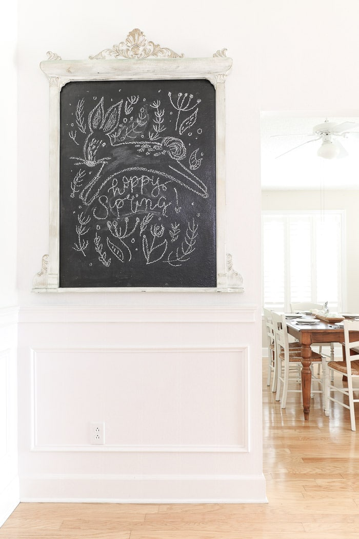 Spring farmhouse decor chalkboard art