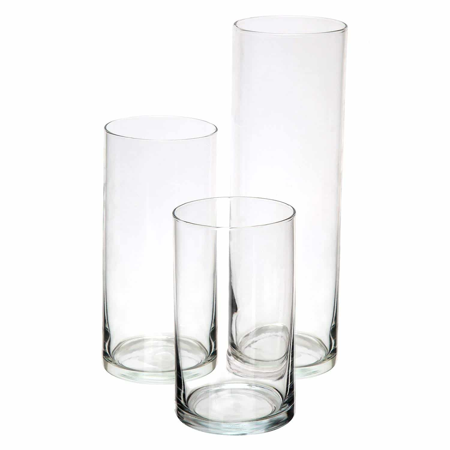 Italian Themed Dinner Party Glass Cylinder Vases