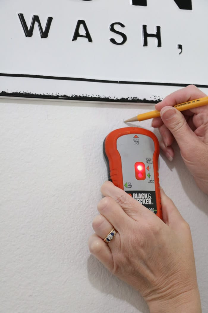 Find the studs in the wall when creating a DIY coat rack