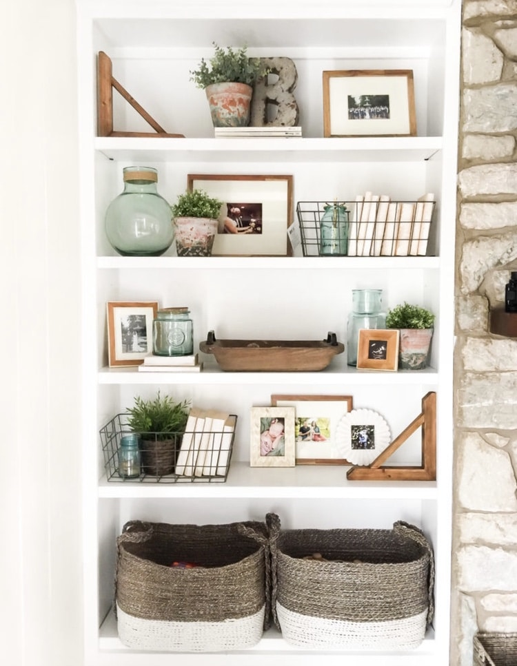 DIY Bookshelf Makeover by House by Hoff with How to Style Open Shelves