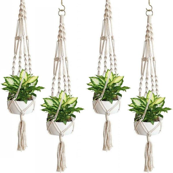 Porch Decorating Ideas with a Macreme Plant Hanger