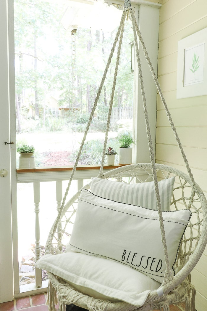 Screened in porch decorating ideas.