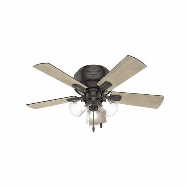 "Affordable farmhouse ceiling fan 42"" crestfield noble bronze LED light"