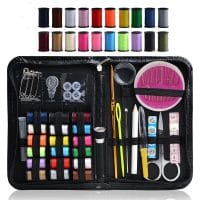 Sewing Kit, 58-in-1 DIY Premium Sewing Supplies, Zipper Portable & Complete Mini Sew Kit for Trav...