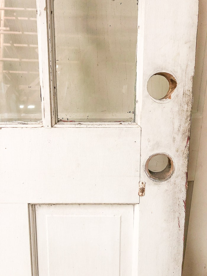 DIY exterior dutch door from an old door