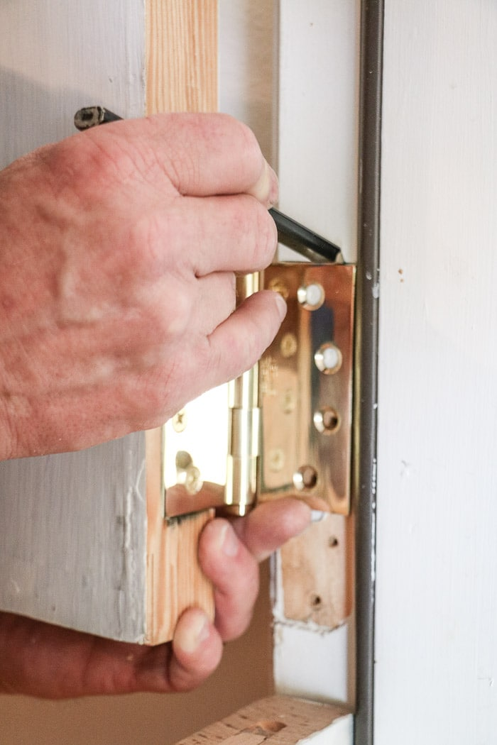 DIY exterior dutch door marking for hinges