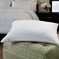 50/50 White Goose Feather Blend Hotel Pillow - DOWNLITE