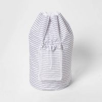 Backpack Laundry Bag With Zipper Grid Pattern White - Room Essentials™
