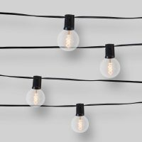 10ct Spiral Filament Outdoor String Lights G50 Clear Bulbs - Opalhouse™