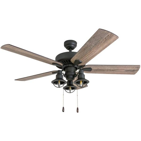 "Affordable farmhouse ceiling fans prominence home ennora 52"" barnwood tumbleweed aged bronze"