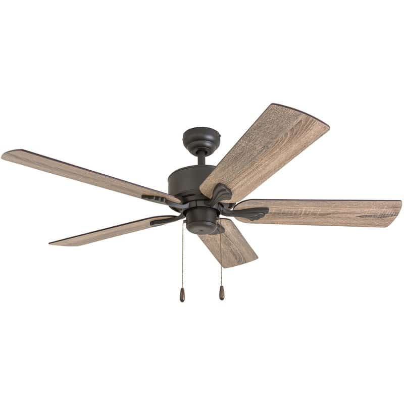 "Affordable farmhouse ceiling fan 52"" Ravenna 5 blade ceiling fan"