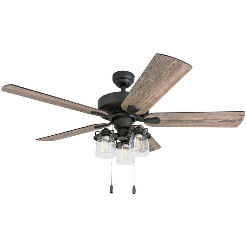 Affordable farmhouse ceiling fan called Sudie 5 blade LED