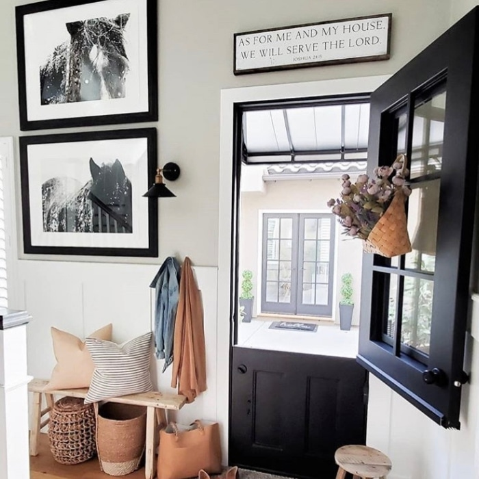 Modern Dutch Door Ideas by House Becomes Home with a black door to the outdoors